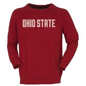 Ohio State Buckeyes Intarsia Crewneck Sweater NWT